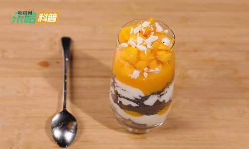 芒果酸奶杯的做法,奥利奥芒果酸奶杯做法,抖音芒果酸奶奥利奥插图