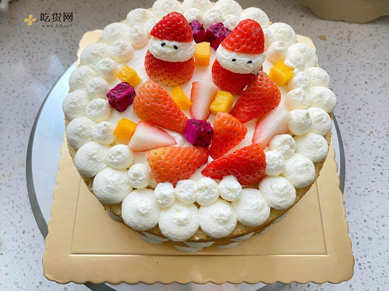 手把手教你,新年草莓裸蛋糕的做法 步骤11