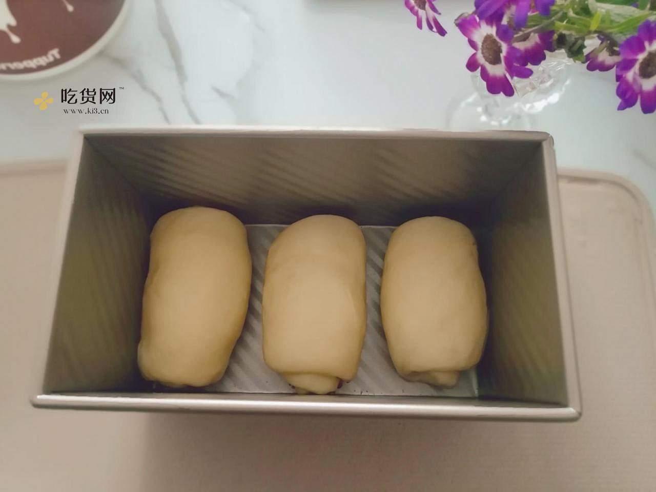 只需一次发酵  一次哦  零失败低甜度奶香吐司的做法 步骤11