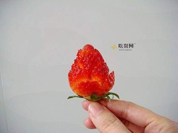 草莓玫瑰花——让草莓一分钟变玫瑰的做法 步骤3