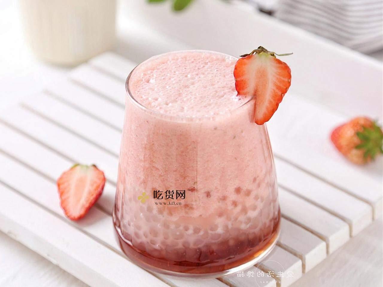 草莓多多西米露的做法 步骤7