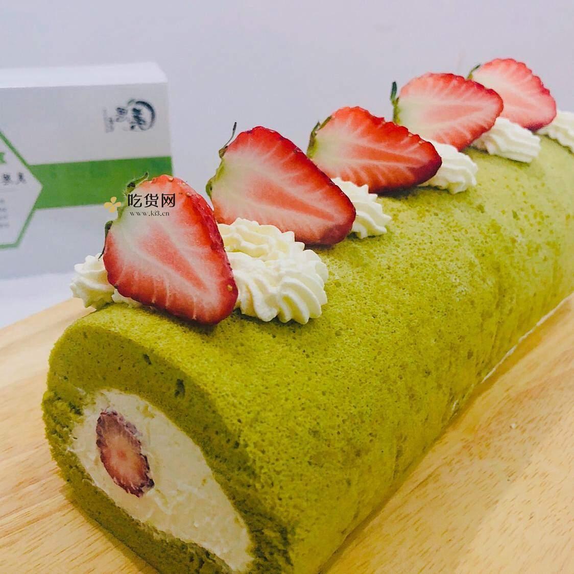 抹茶草莓🍓蛋糕卷的做法 步骤15