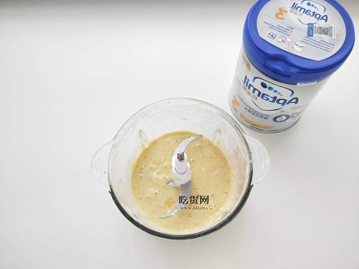 奶香浓郁的香蕉松饼的做法 步骤4