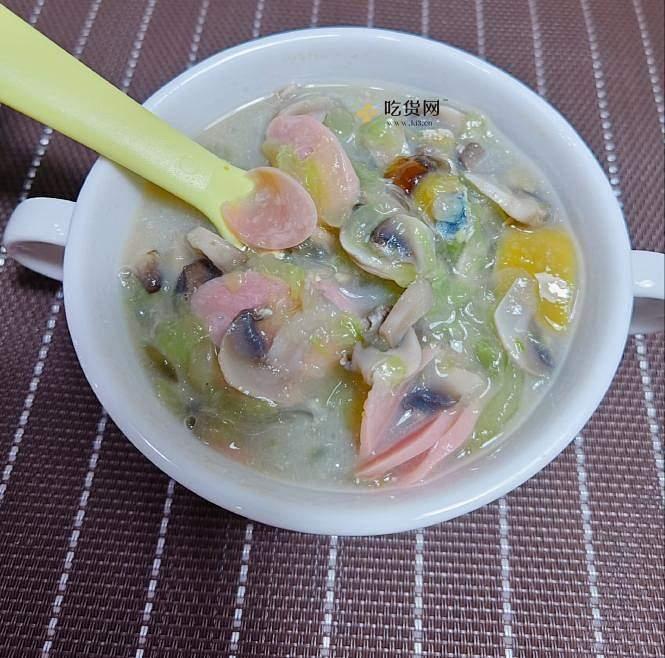 减脂餐 最爱做的一道汤 超级刷脂 超低卡 皮蛋蘑菇黄瓜汤 无油无糖 汤鲜味美 减肥餐的做法 步骤11