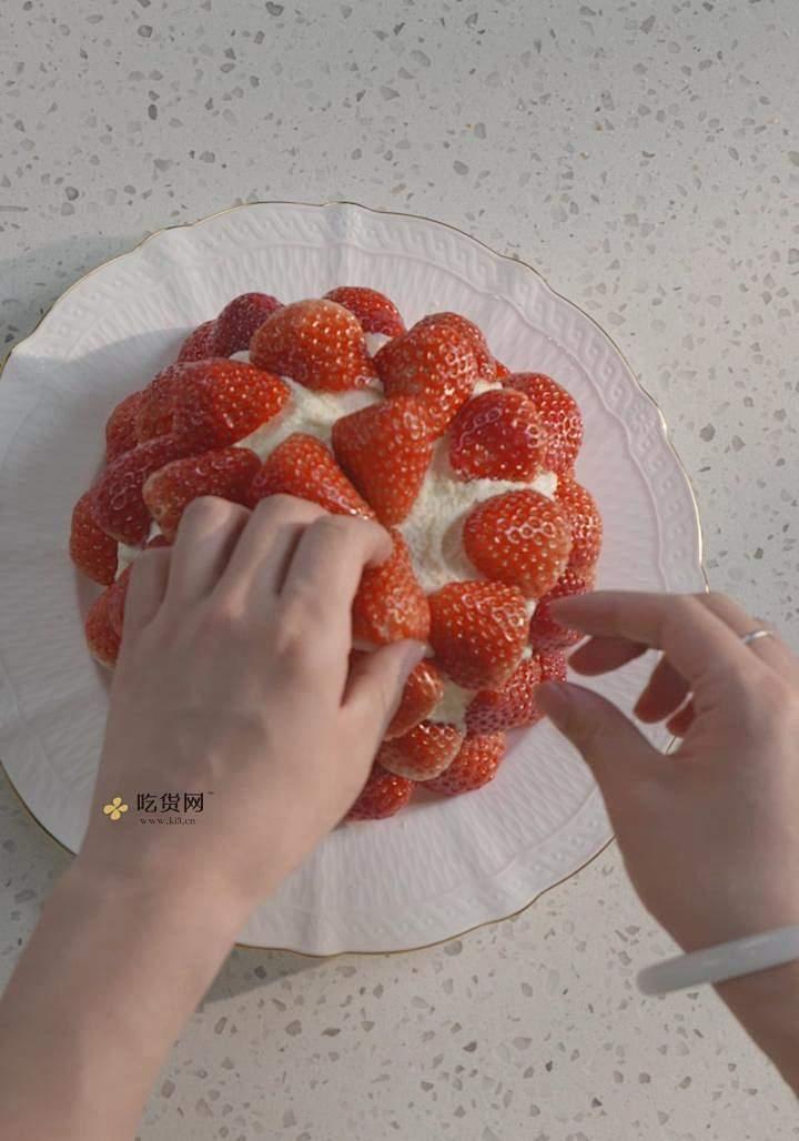 曼食慢语丨草莓芝士雪山蛋糕的做法 步骤25