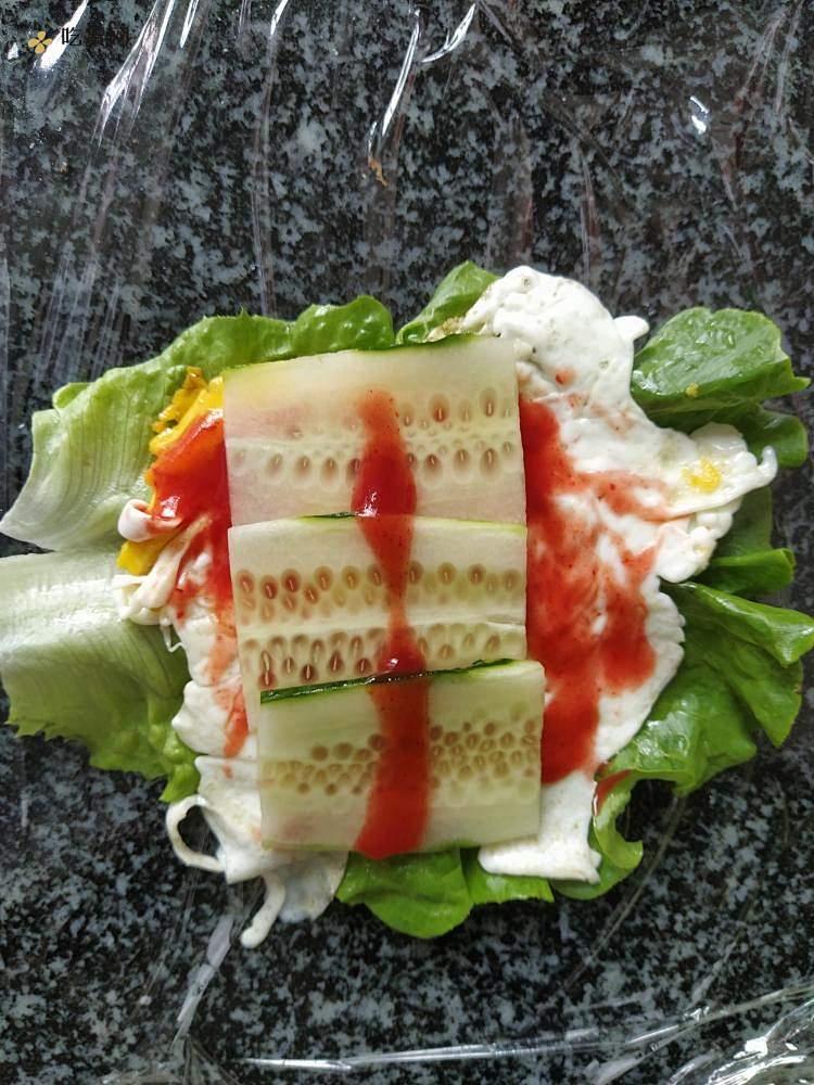 超美味减肥餐蔬菜三明治的做法 步骤4