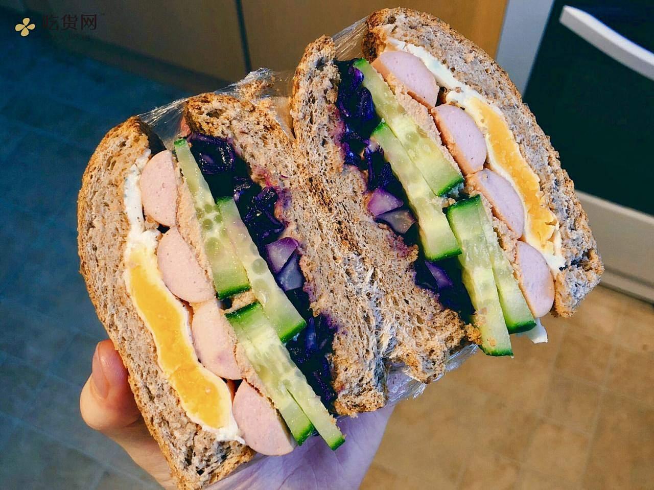 视觉味觉爆炸的全麦三明治系列|减脂万能公式 欢迎来玩!的做法 步骤10