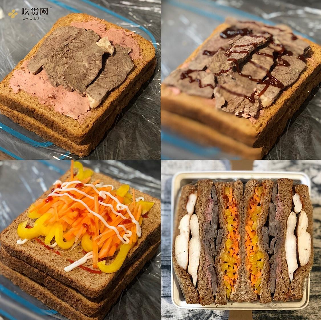 视觉味觉爆炸的全麦三明治系列|减脂万能公式 欢迎来玩!的做法 步骤34