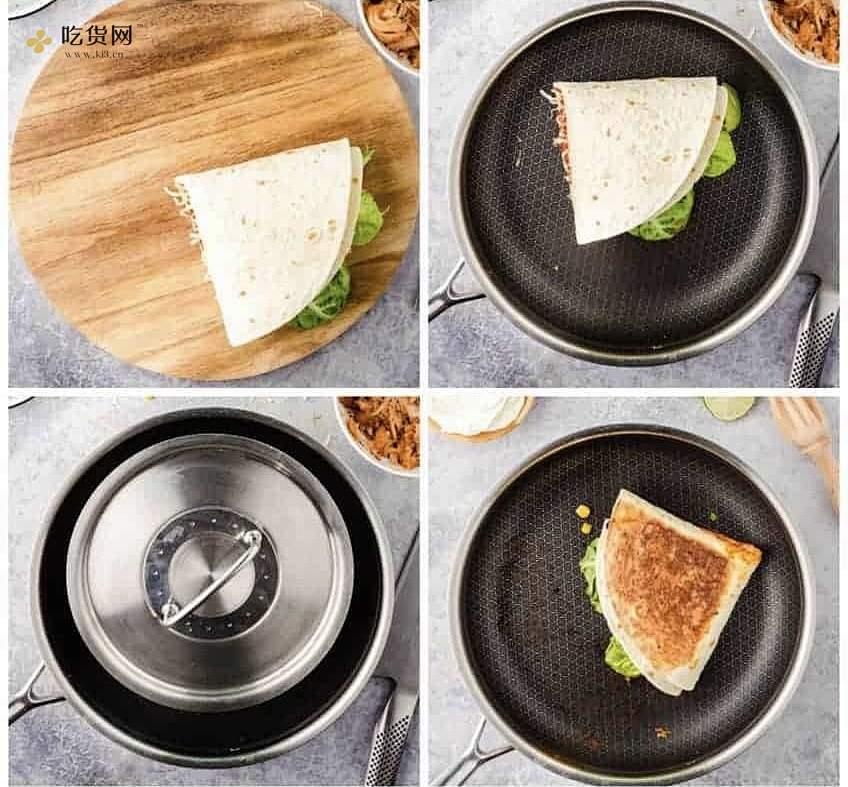 火爆外网的四格卷饼? 五分钟早餐/超快手!的做法 步骤2