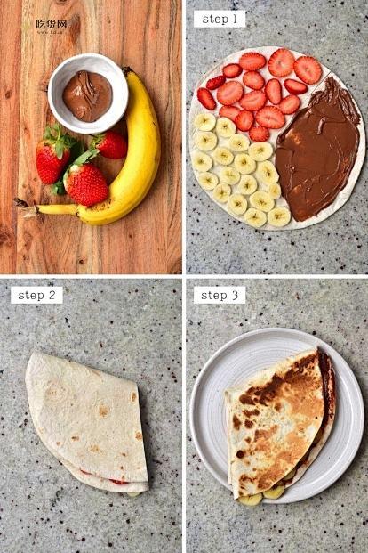 火爆外网的四格卷饼? 五分钟早餐/超快手!的做法 步骤5