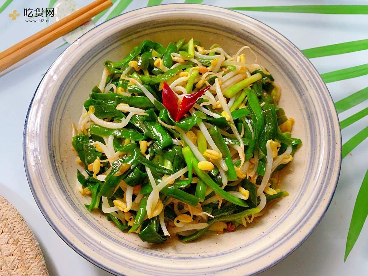 ?五分钟搞定‼️小白也能做出好吃的素炒韭菜豆芽的做法 步骤12