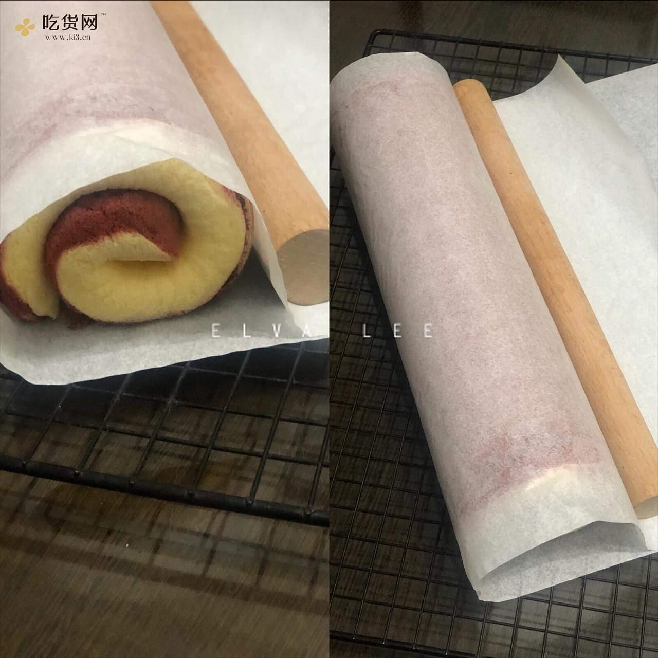低糖低油红丝绒旋风蛋糕卷的做法 步骤6