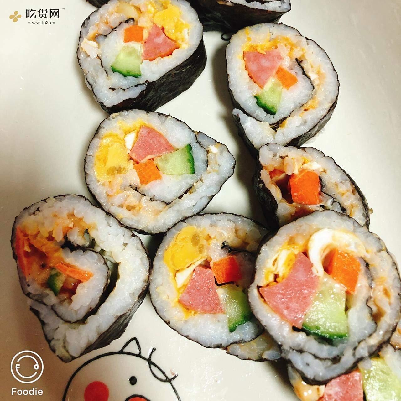 鸭蛋黄寿司的做法 步骤7