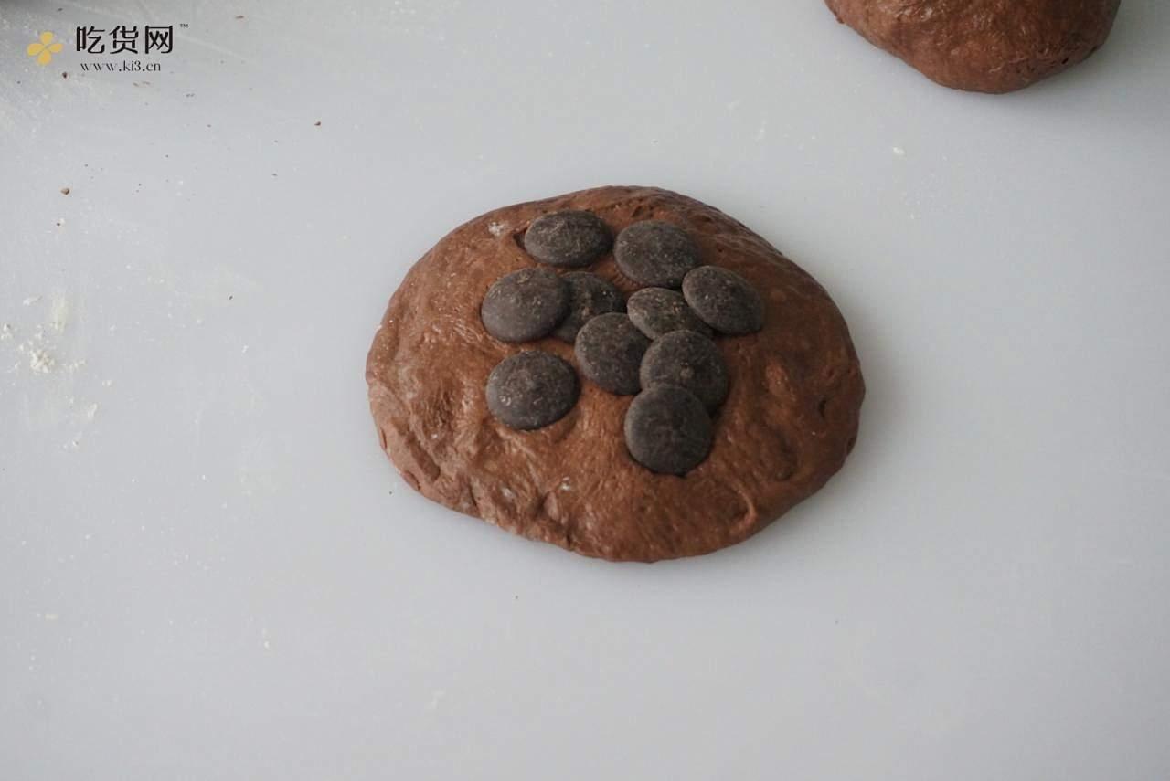 ?会爆浆 会流心 会开花 巧克力全麦软欧的做法 步骤13