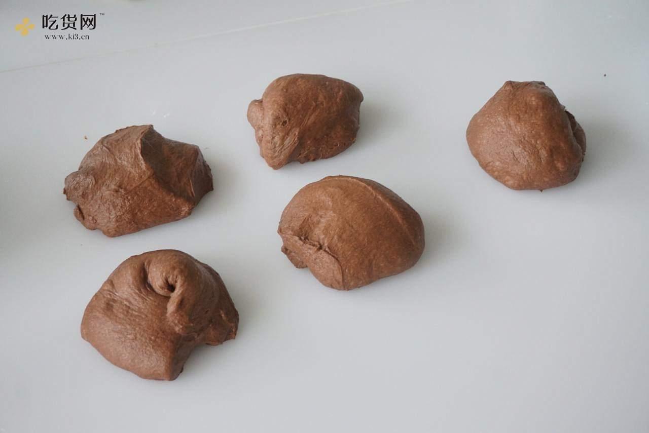 ?会爆浆 会流心 会开花 巧克力全麦软欧的做法 步骤9