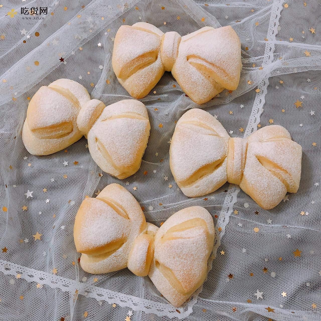 软萌可爱又少女心?蝴蝶结面包的做法 步骤19