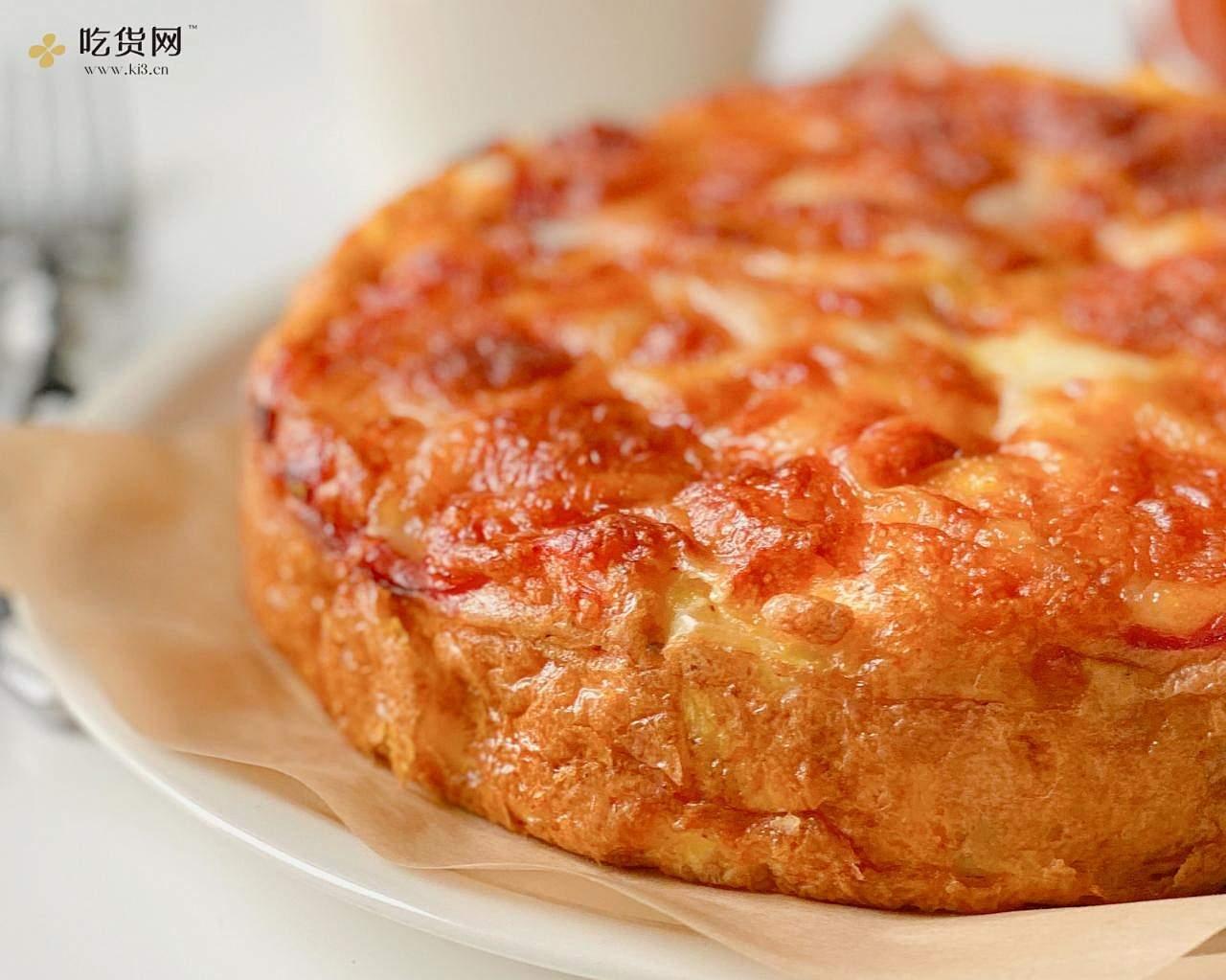 脆皮爆浆巨好吃的火腿芝士西班牙蛋饼的做法 步骤6