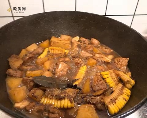 不放一滴调味料 💯 独家配方🟡豉香红烧排骨的做法 步骤5