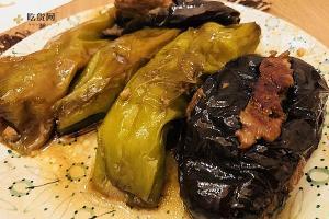 肉酿虎皮尖椒、茄子的做法步骤图缩略图