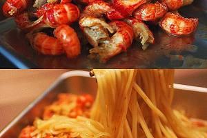 麻辣咖喱小龙虾拌面的做法步骤图缩略图