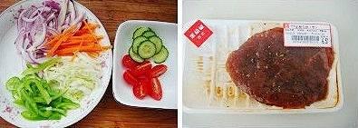 黑胡椒牛排饭的做法 步骤1