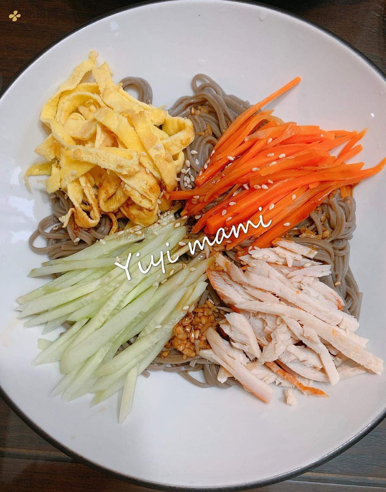 鸡丝荞麦凉面(减脂餐)的做法 步骤12