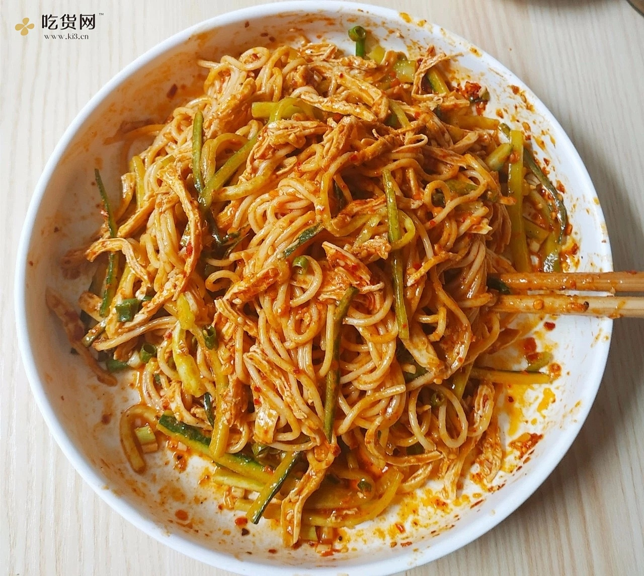 电饭煲美食|鸡丝凉拌面的做法 步骤9