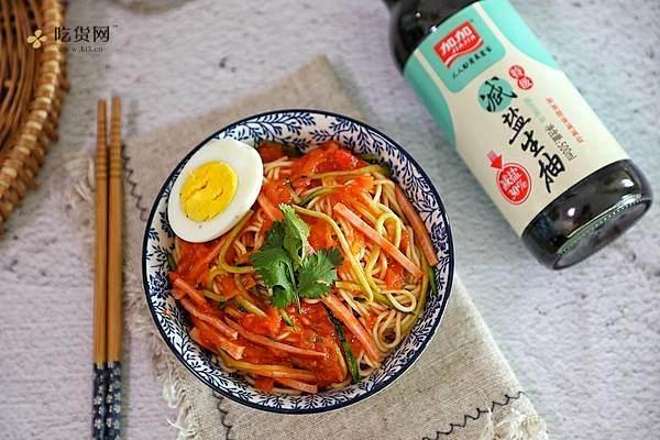 番茄火腿凉面的做法步骤图,怎么做好吃缩略图