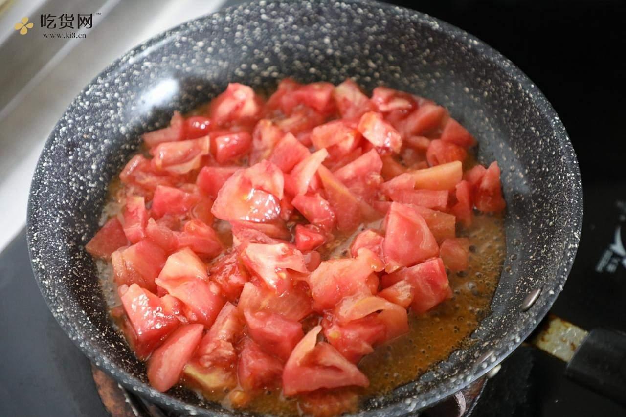 番茄火腿凉面的做法 步骤8