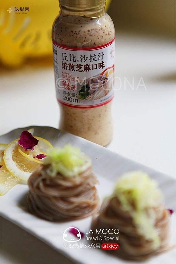 焙煎芝麻汁淋柠香荞麦面的做法 步骤4