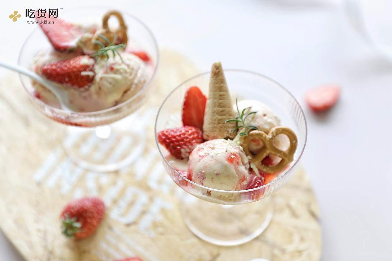 在家自己制作真材实料的草莓🍓冰激淋,无渣好好吃~的做法 步骤8