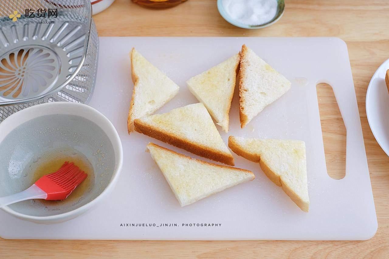 蜂蜜脆吐司 空气炸锅版的做法 步骤4