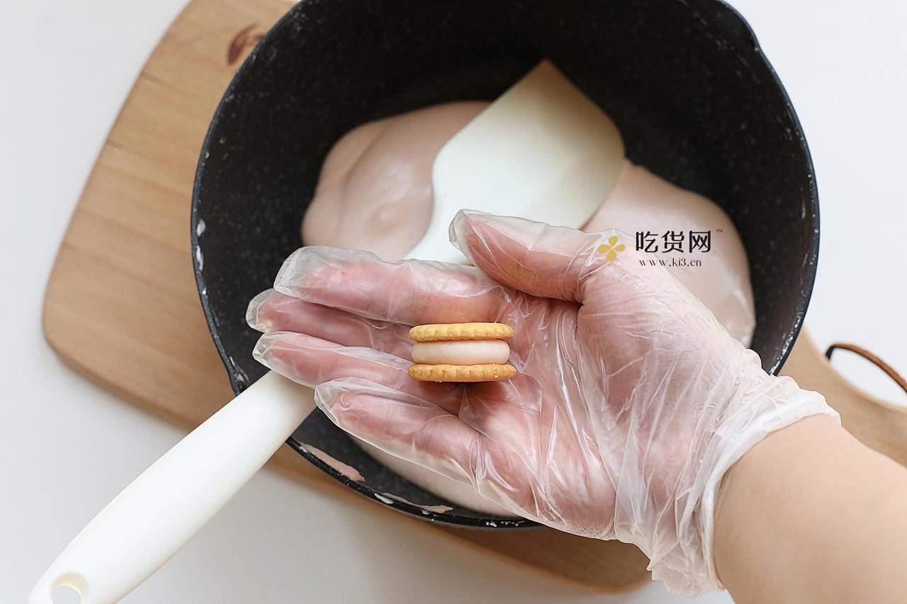 超简单易上手棉花糖版汉堡牛轧饼&雪花酥的做法 步骤10