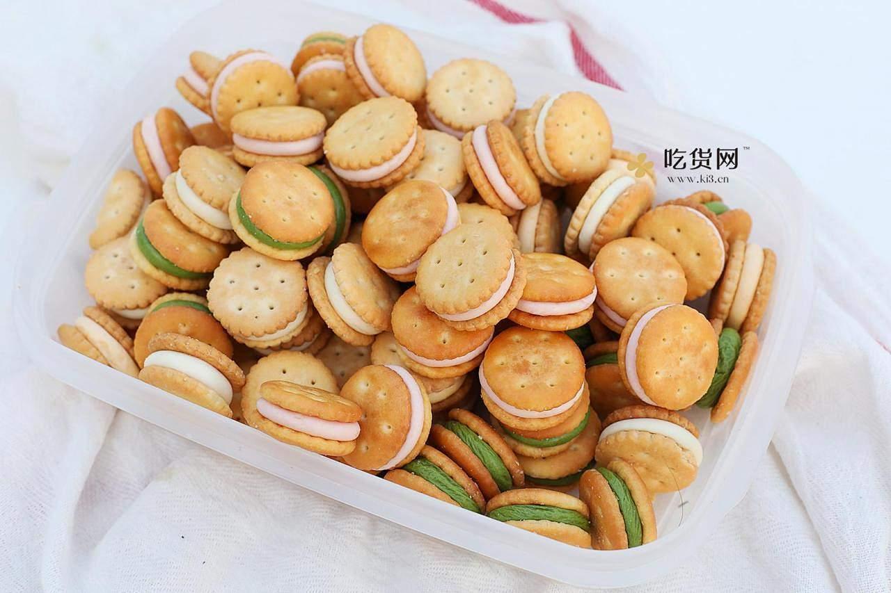 超简单易上手棉花糖版汉堡牛轧饼&雪花酥的做法 步骤11