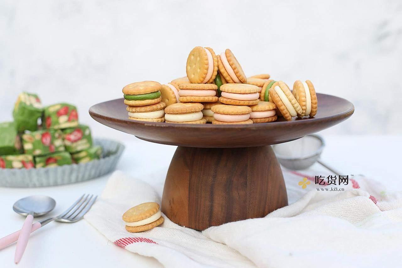 超简单易上手棉花糖版汉堡牛轧饼&雪花酥的做法 步骤22