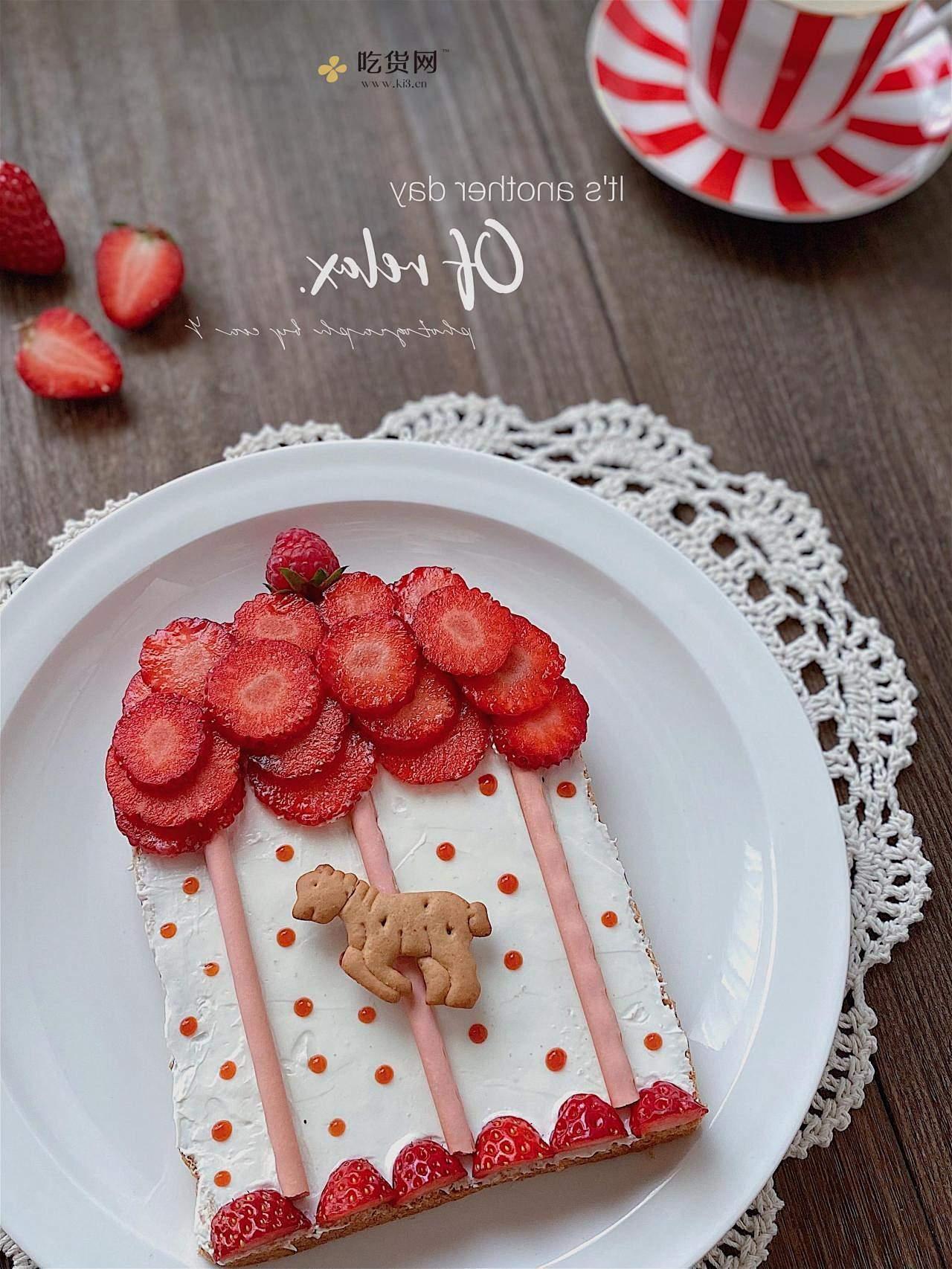 趣味早餐🔥童话世界❤️旋转木马🎠水果吐司的做法 步骤8
