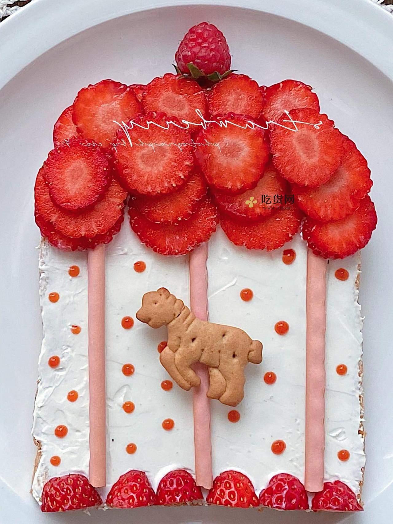 趣味早餐🔥童话世界❤️旋转木马🎠水果吐司的做法 步骤6