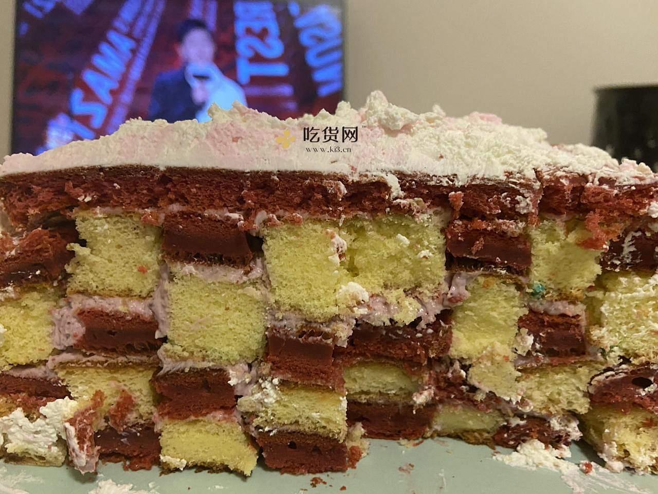 纯奶油草莓格子蛋糕的做法 步骤7