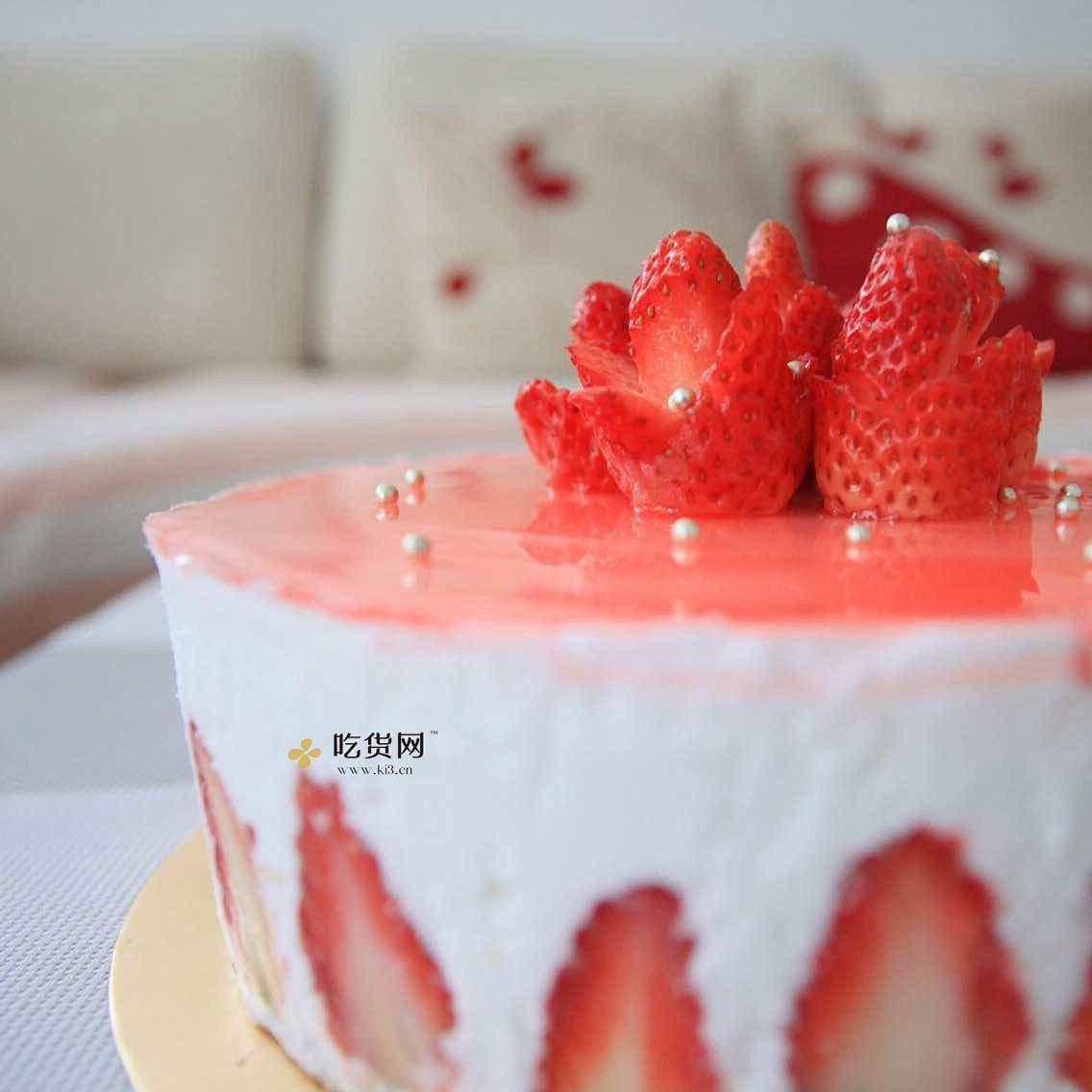 ❤草莓之恋❤情人节草莓玫瑰花的做法 步骤6