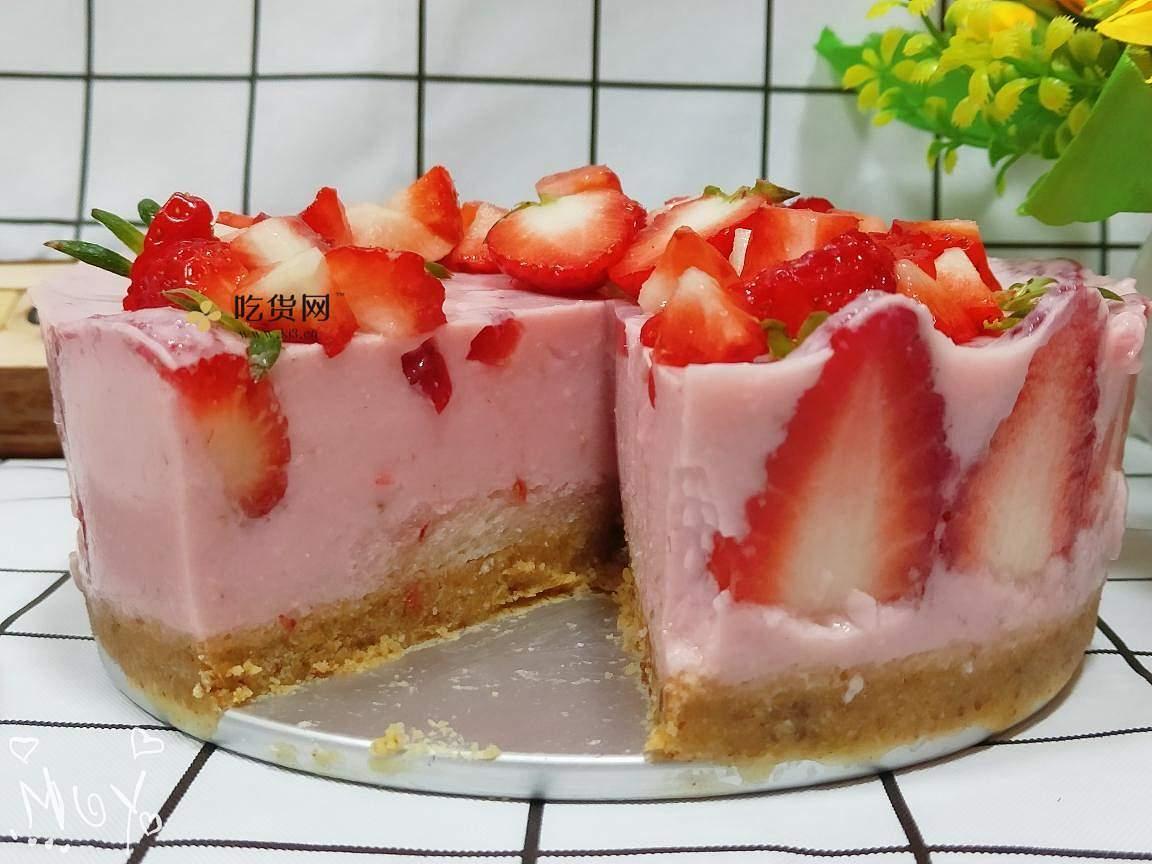 免考的草莓慕斯蛋糕的做法 步骤8