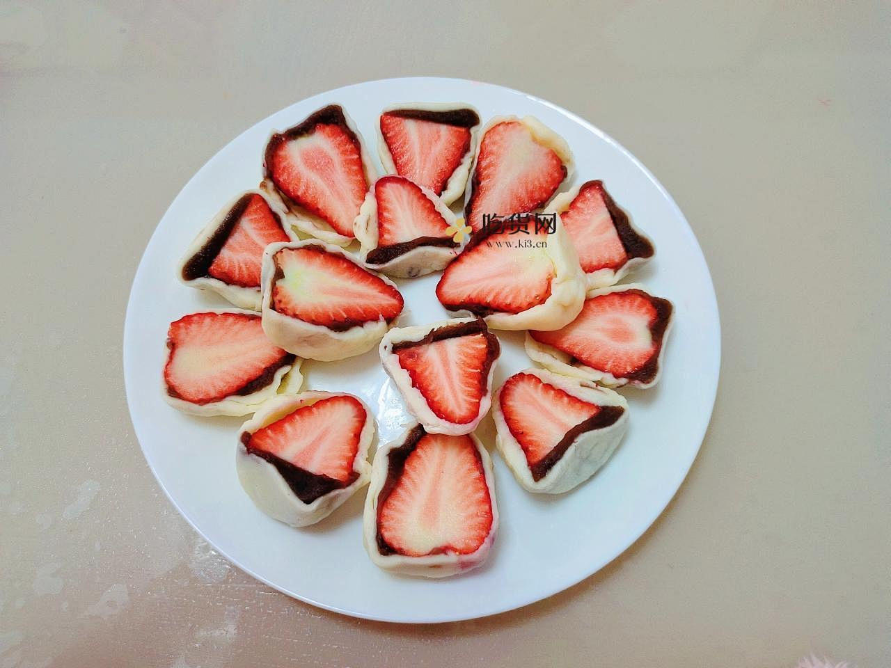 自制草莓大福的做法 步骤11
