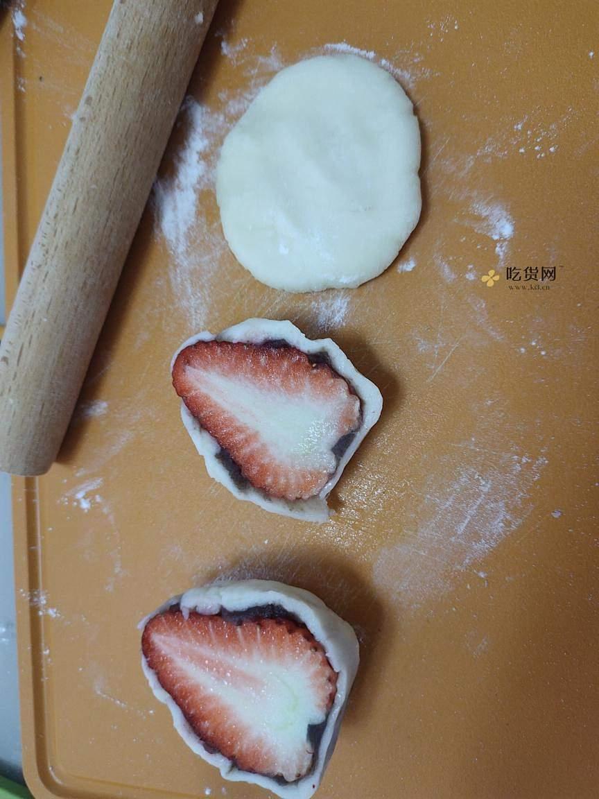 自制草莓大福的做法 步骤10