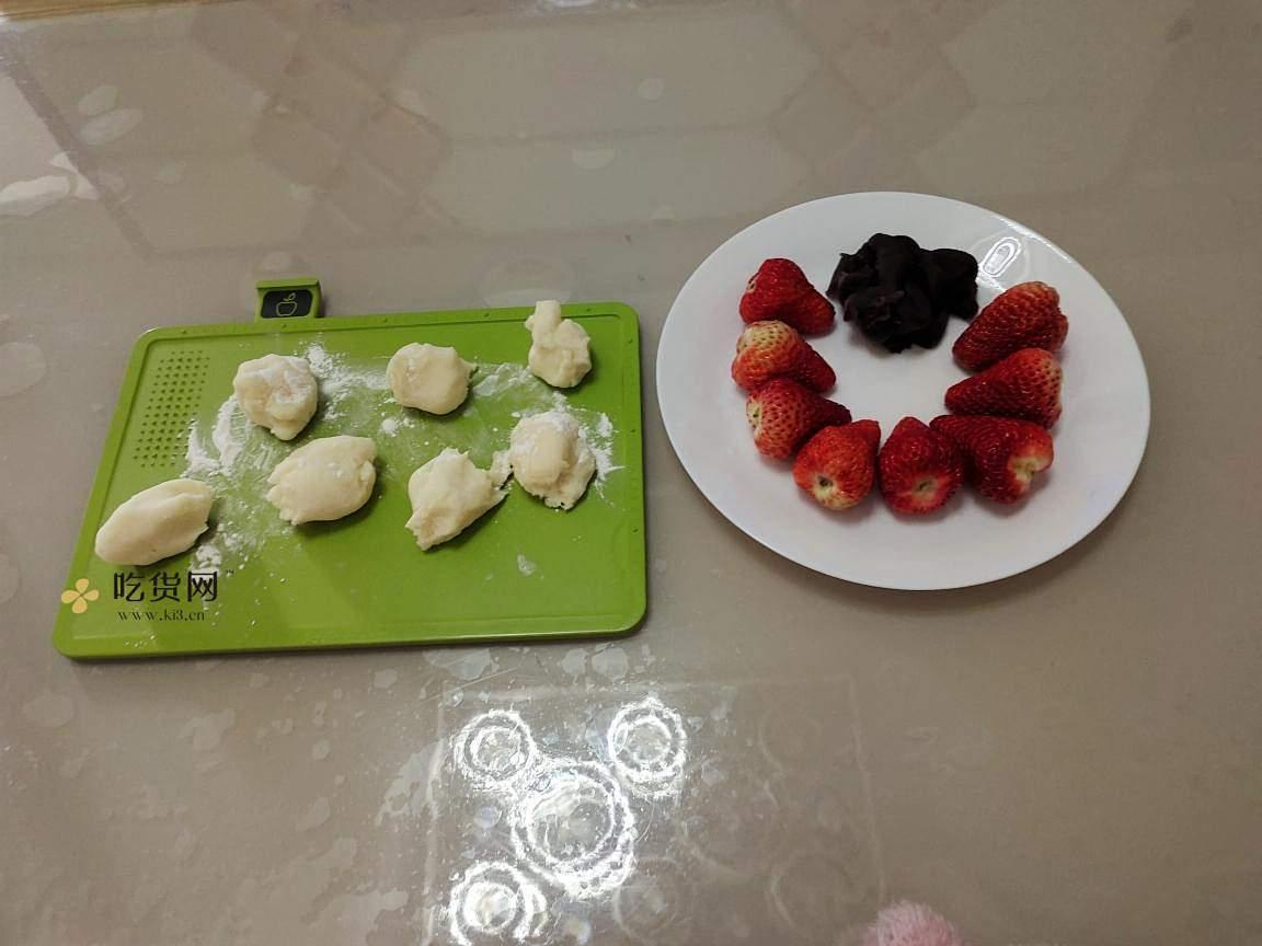 自制草莓大福的做法 步骤7