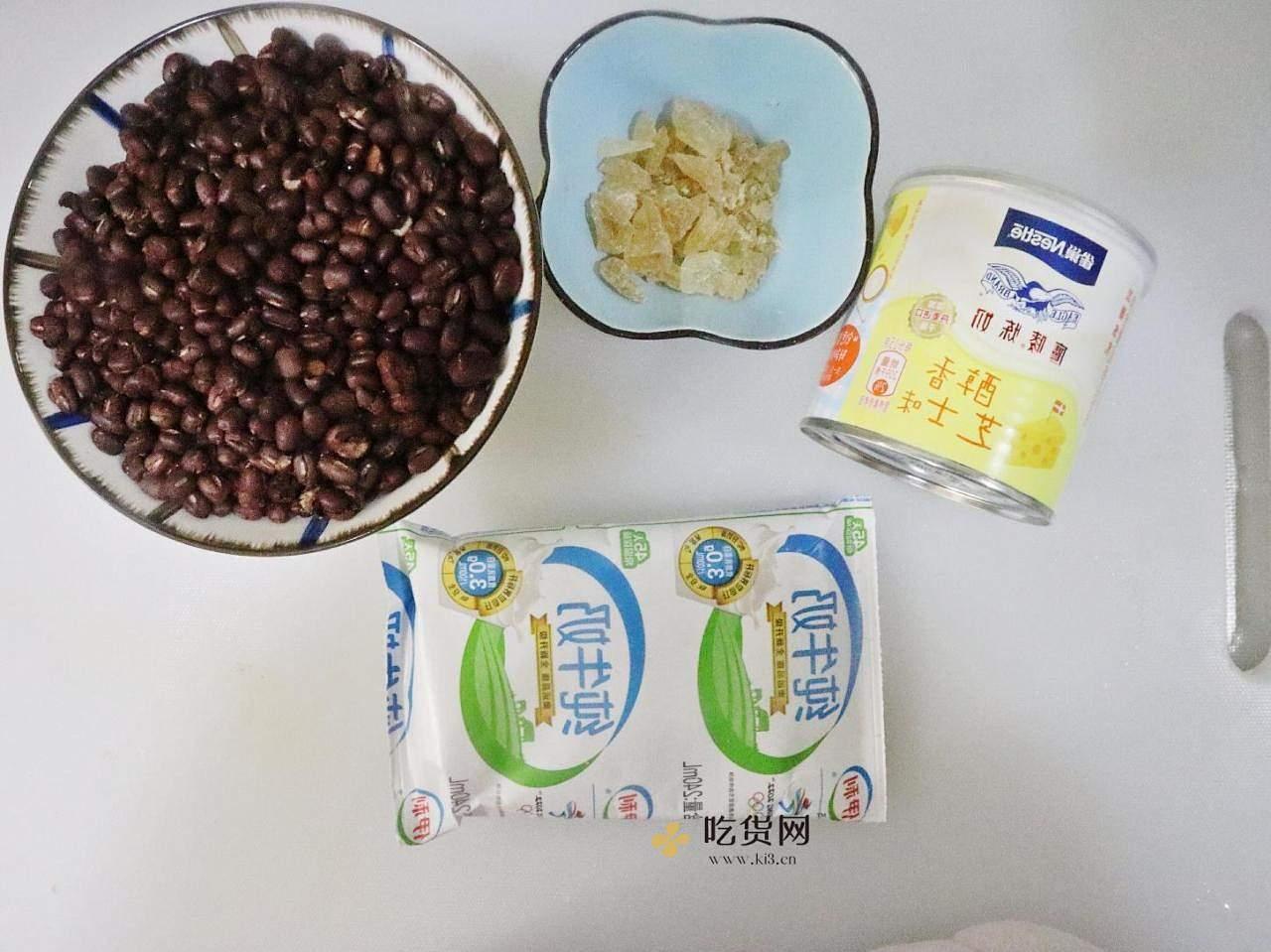 饭后甜品牛奶红豆汤❗️暖心又暖胃❤️的做法 步骤5
