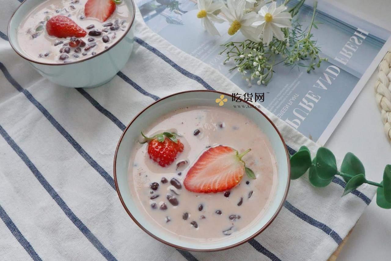 饭后甜品牛奶红豆汤❗️暖心又暖胃❤️的做法 步骤9