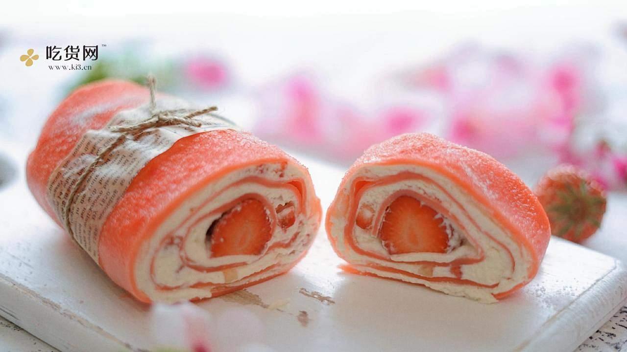 草莓毛巾卷的做法 步骤10