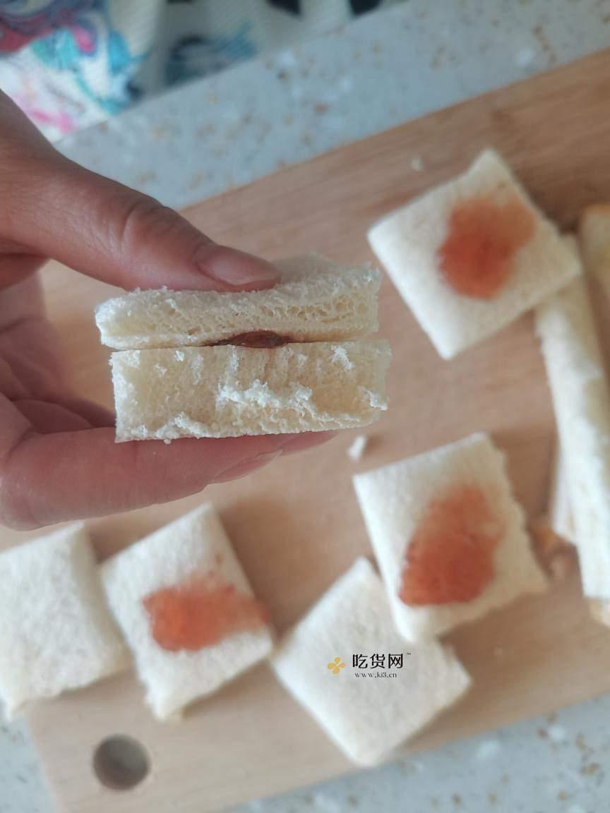 简单,快速,高颜值早餐,草莓小方的做法 步骤4