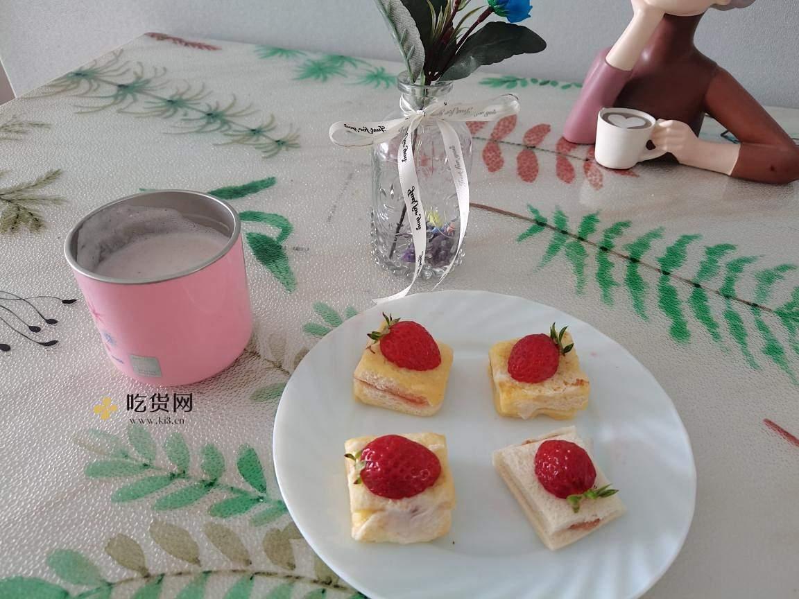 简单,快速,高颜值早餐,草莓小方的做法 步骤12
