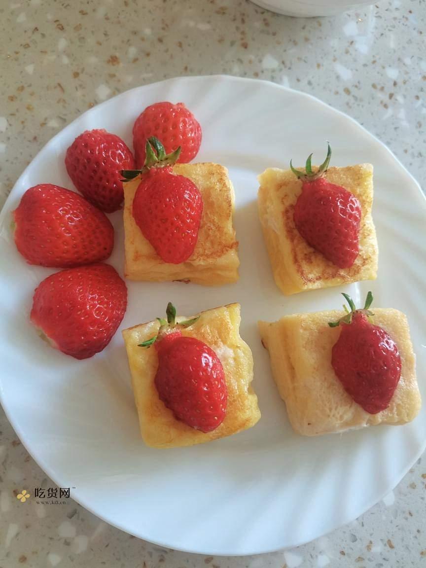 简单,快速,高颜值早餐,草莓小方的做法 步骤8