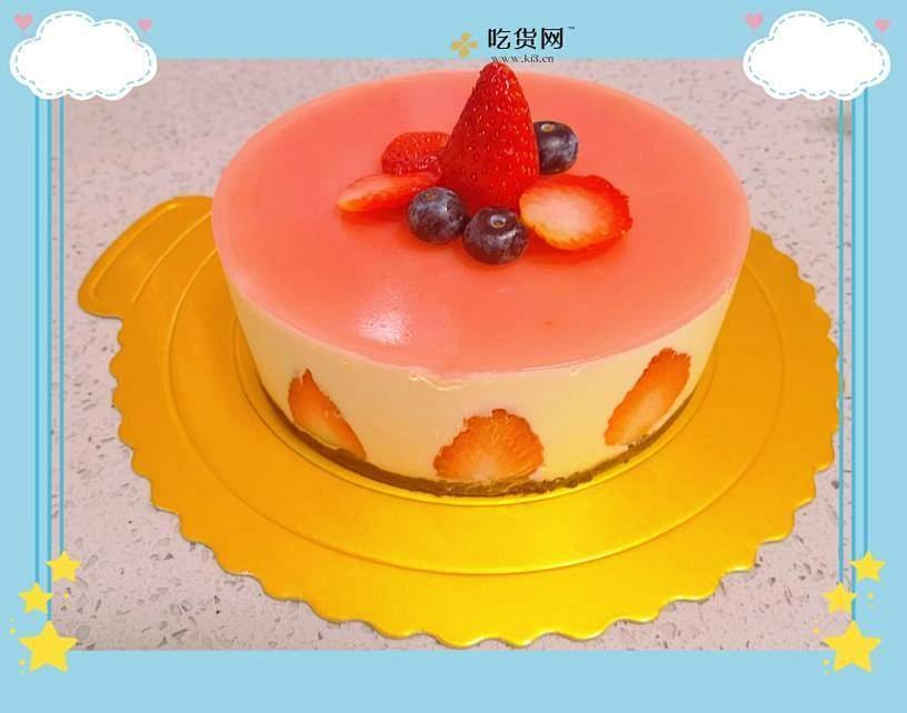 草莓慕斯蛋糕6寸的做法 步骤13